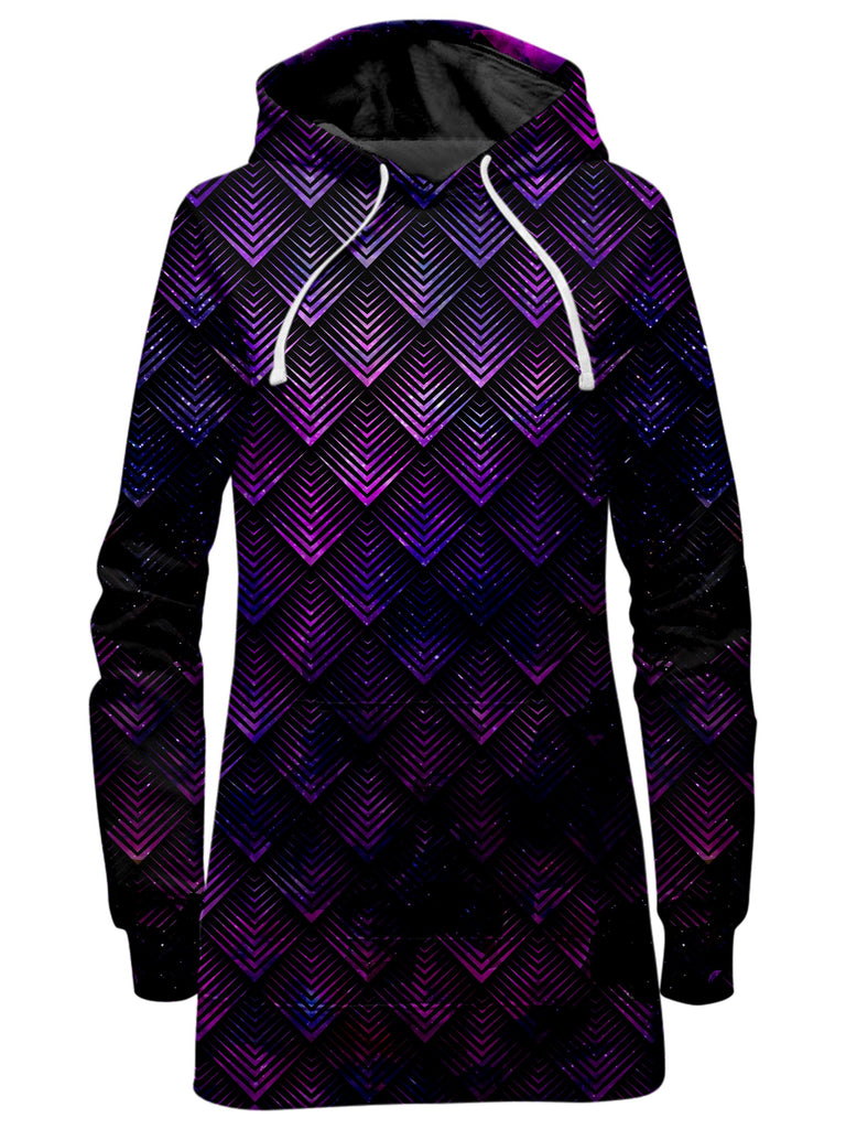 Noctum X Truth Galactic Dragon Scale Purple Hoodie Dress - iEDM