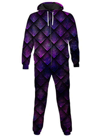 Noctum X Truth - Galactic Dragon Scale Purple Onesie (Ready To Ship)