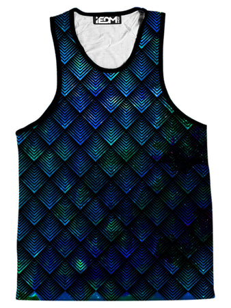 Noctum X Truth - Galactic Dragon Scale Teal Men's Tank