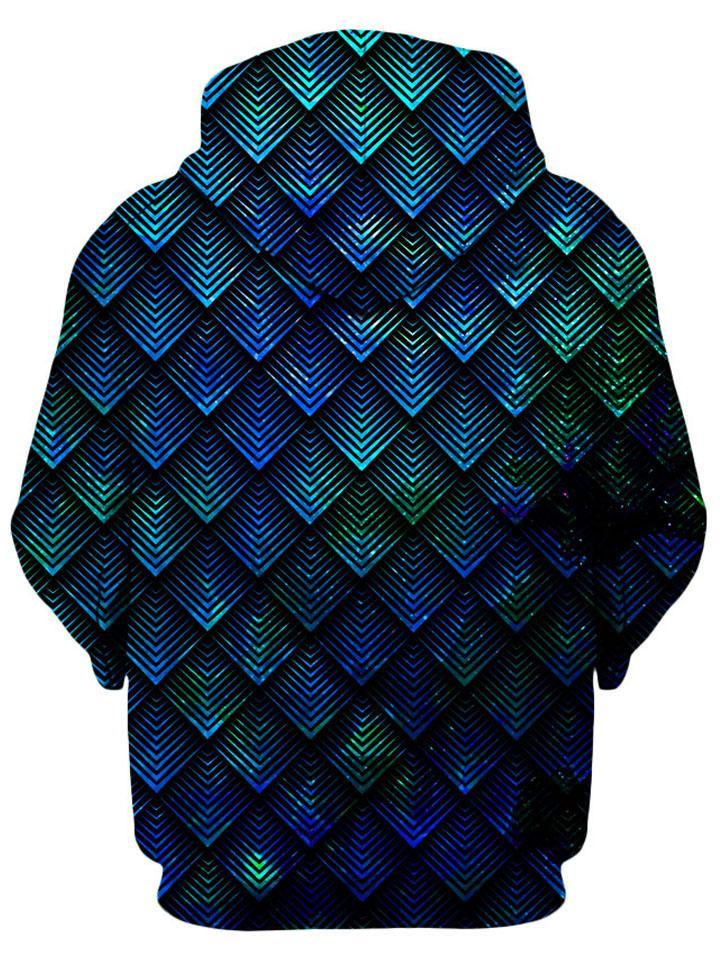 Noctum X Truth Galactic Dragon Scale Teal Unisex Hoodie - iEDM