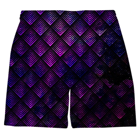 Noctum X Truth - Galactic Dragon Scale Purple Weekend Shorts