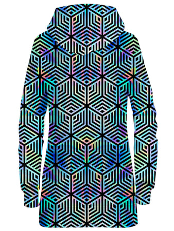 Noctum X Truth - Holographic Hexagon Hoodie Dress