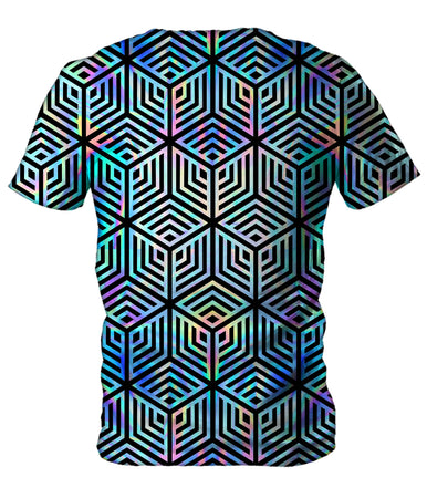 Noctum X Truth - Holographic Hexagon Men's T-Shirt