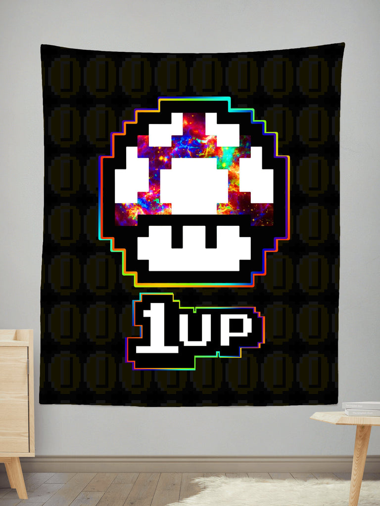 Noctum X Truth Level Up Mushroom Tapestry
