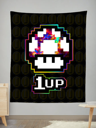 Noctum X Truth - Level Up Mushroom Tapestry