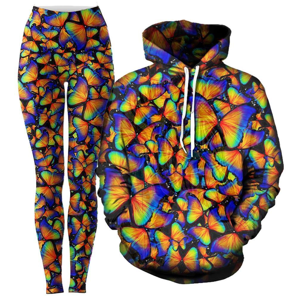 Noctum X Truth Rainbow Fly Hoodie and Leggings Combo - iEDM