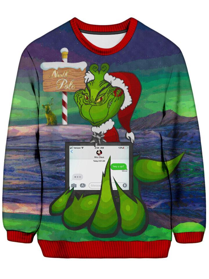 Noctum X Truth Savage Grinch Ugly Sweatshirt - iEDM