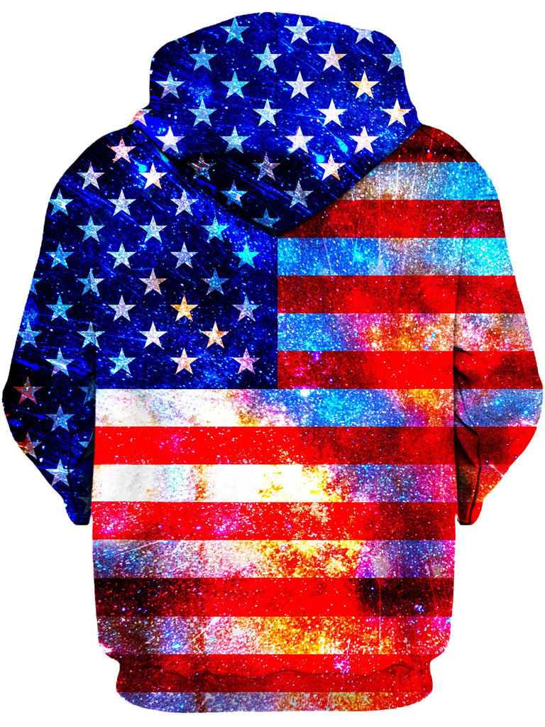 On Cue Apparel American Flag Grunge Hoodie