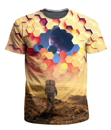 On Cue Apparel - Astronaut Barrier Men's T-Shirt