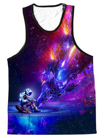 On Cue Apparel Aurora Borealis Tank and Shorts Rave Outfit