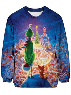On Cue Apparel - Christmas Grinch Ugly Sweatshirt