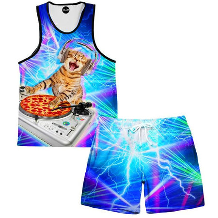 On Cue Apparel - DJ Paws Tank and Shorts Combo