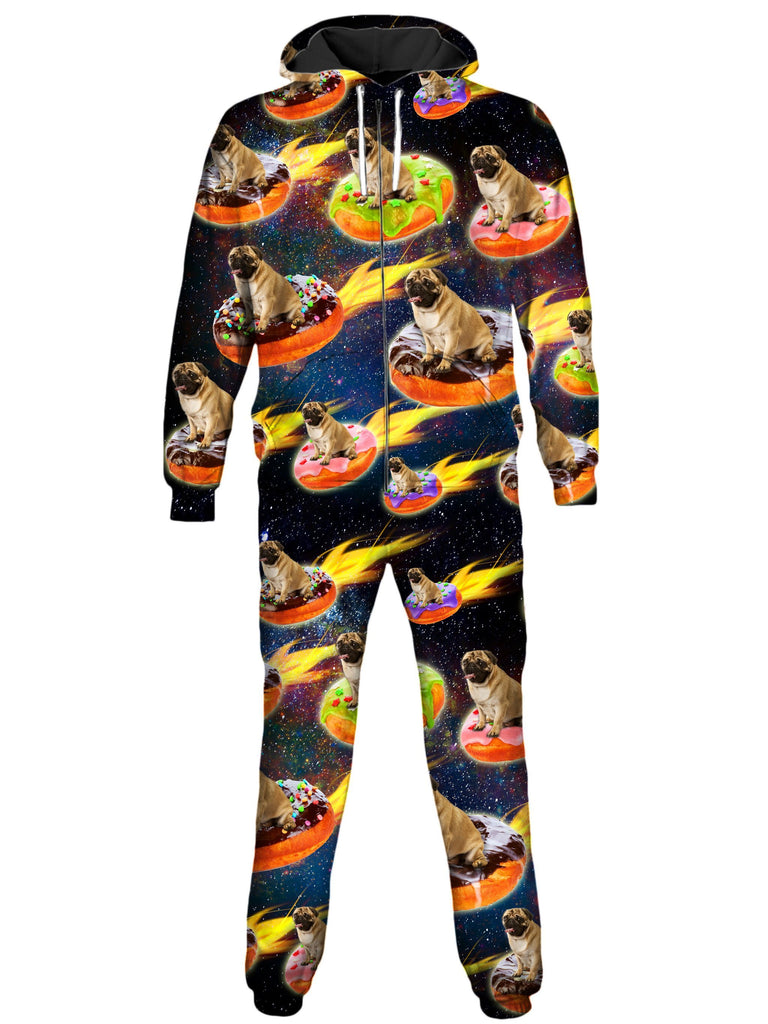 On Cue Apparel - Doughnut and Pugs Onesie