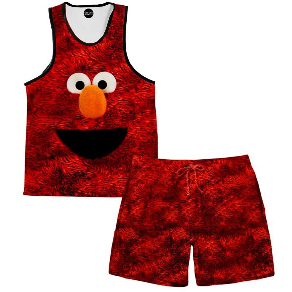On Cue Apparel Elmo Tank and Shorts Combo