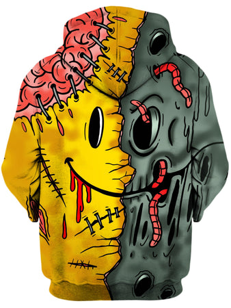 On Cue Apparel - Emoji Zombie Hoodie