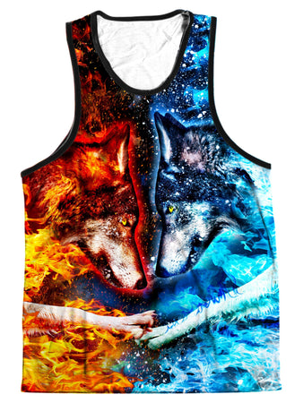 On Cue Apparel - Fire and Ice Men's Tank