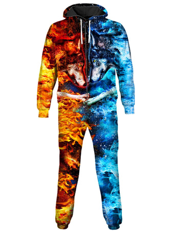 On Cue Apparel - Fire and Ice Onesie (Ready To Ship)