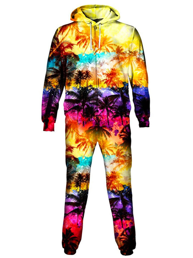 On Cue Apparel Florida Palm Trees Onesie