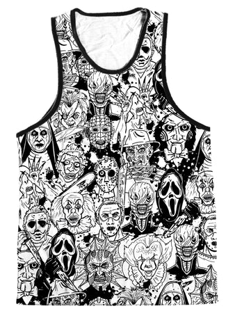 On Cue Apparel - Horror Villains Men's Tank