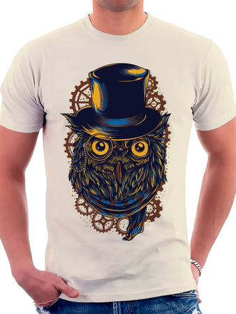 On Cue Apparel - Mechanical Owl T-Shirt