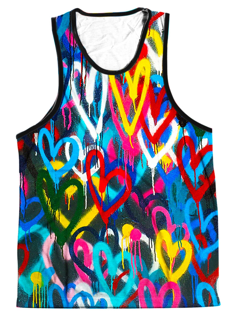 On Cue Apparel Painted Hearts Men