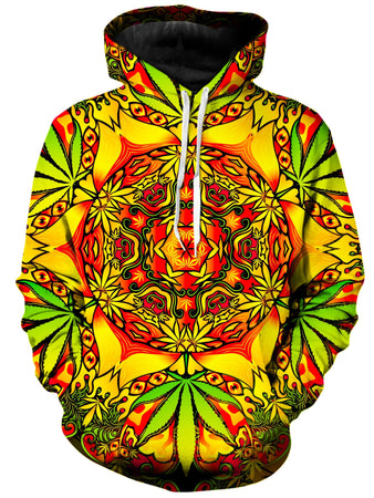 On Cue Apparel - Psychedelic Weed Hoodie