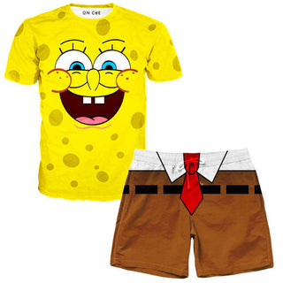 On Cue Apparel - Spongebob T-Shirt And Shorts Combo