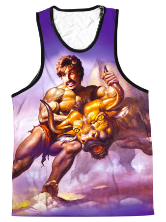 On Cue Apparel - Taking the Bull by the Horns Men's Tank