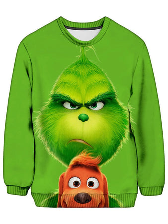 On Cue Apparel - The Grinch Ugly Sweatshirt