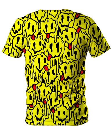 On Cue Apparel - Trippy Emoji Men's T-Shirt