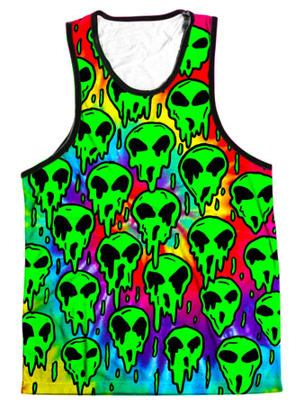 On Cue Apparel - Trippy Green Martian Men's Tank