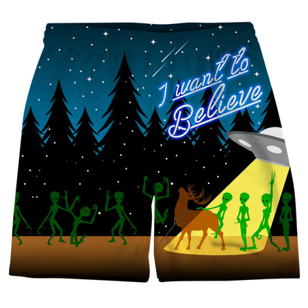 On Cue Apparel - UFO Party Weekend Shorts