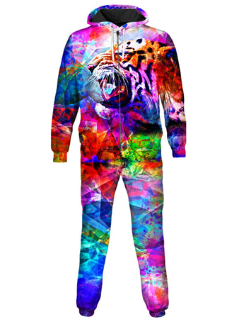 On Cue Apparel - Vivid Tiger Onesie