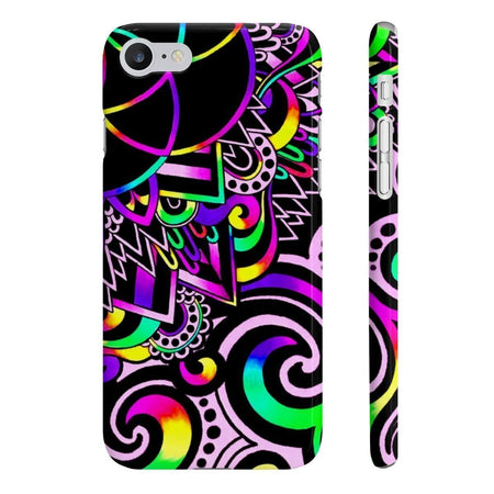 Phone Case - White Doodle Magic Slim Phone Cases