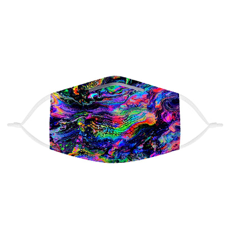 Psychedelic Pourhouse - Galactic Drip Kids Face Mask With (4) PM 2.5 Carbon Inserts