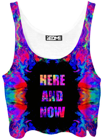Psychedelic Pourhouse - Here and Now Crop Top