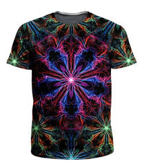 Psychedelic Pourhouse Man Trip T-Shirt and Shorts with PM 2.5 Face Mask Combo - iEDM