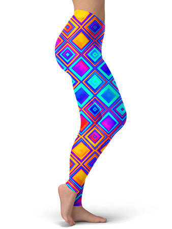 Psychedelic Pourhouse - Quick Silver Leggings