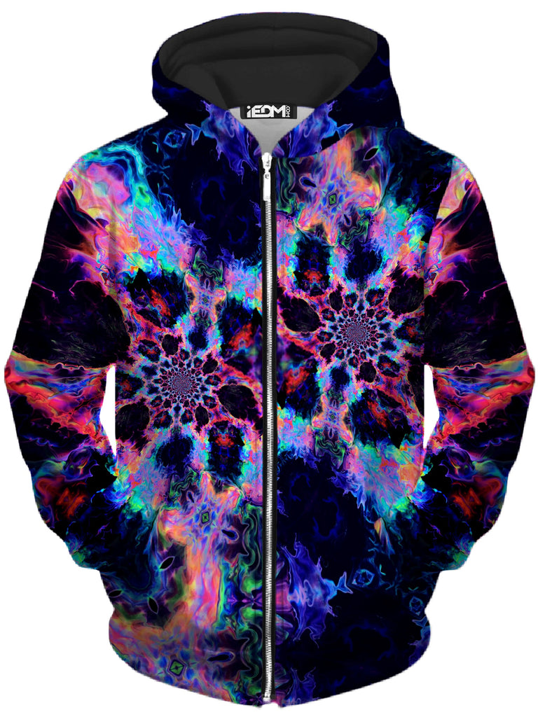 Psychedelic Pourhouse Trip Nebula Unisex Zip-Up Hoodie - iEDM