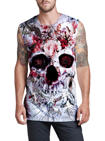 Riza Peker - Floral Skull Men's Muscle Tank (Ready To Ship)