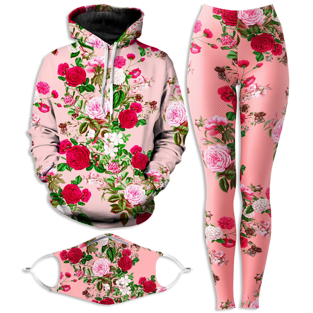 Riza Peker Pastel Hoodie and Leggings with PM 2.5 Face Mask Combo - iEDM