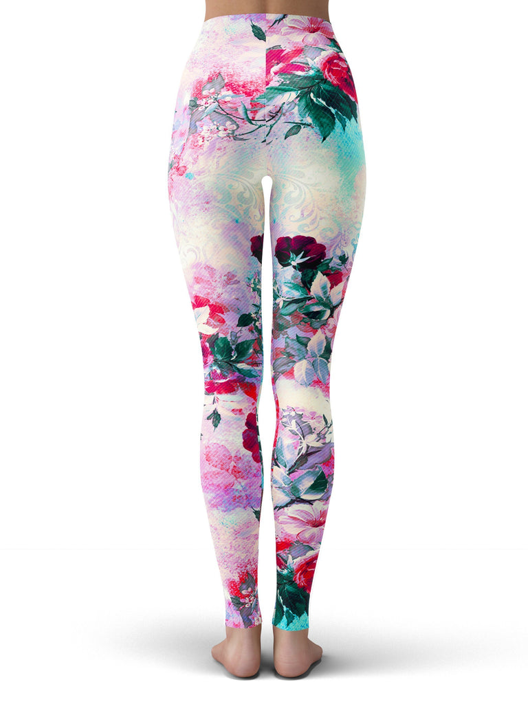 Riza Peker Pink Floral Leggings (Ready To Ship)