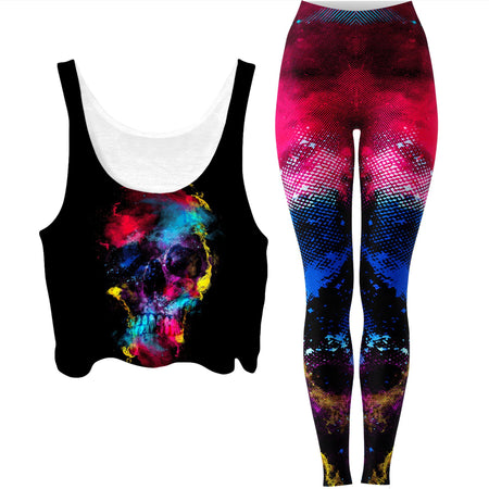 Riza Peker - Skull 49 Crop Top and Leggings Combo