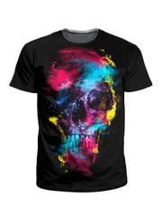 Riza Peker Skull 49 T-Shirt and Shorts with PM 2.5 Face Mask Combo - iEDM