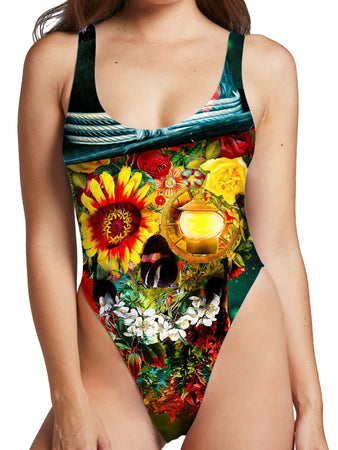 Riza Peker - Skull Lover High Cut One-Piece Swimsuit