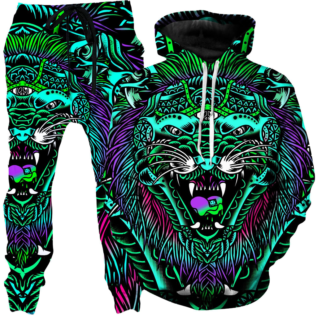 Set 4 Lyfe Acid Tiger Hoodie and Joggers Combo