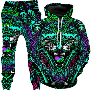 Set 4 Lyfe - Acid Tiger Hoodie and Joggers Combo