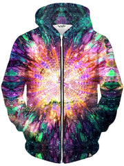 Set 4 Lyfe California Sunshine Portal Unisex Zip-Up Hoodie - iEDM