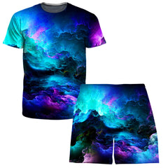 Set 4 Lyfe Dream Waves T-Shirt and Shorts Combo