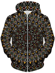 Set 4 Lyfe Flower Mandala Unisex Zip-Up Hoodie